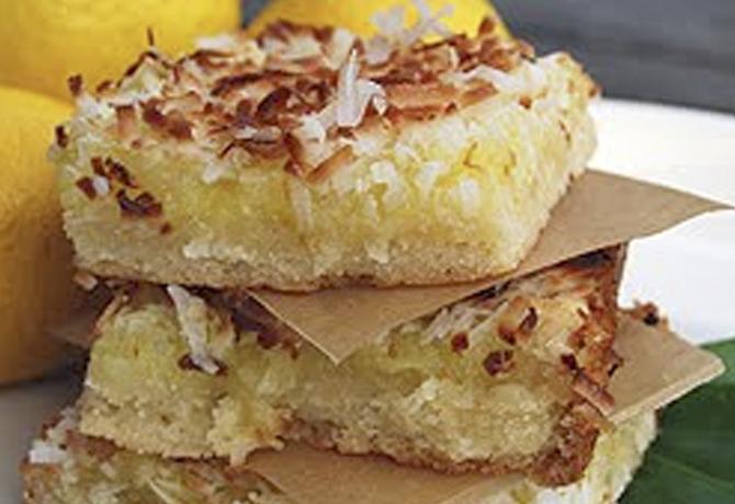 Lemon Coconut Bars - Gonna Want Seconds